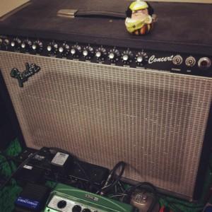 愛用のアンプ Fender USA '80s Concert 1-12  フェンダー コンサート 清水邦浩ギター教室ウクレレ教室愛知県岡崎市